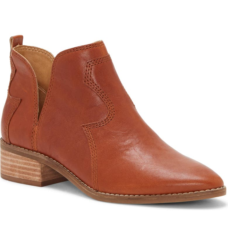 LUCKY BRAND Leymon Western Bootie, Main, color, WHISKEY LEATHER