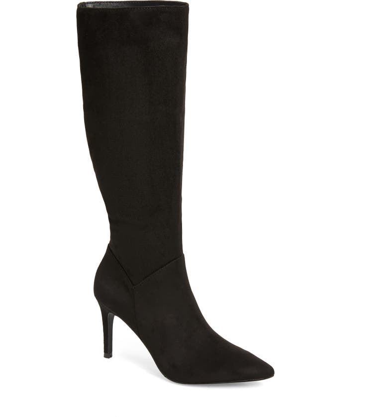STEVE MADDEN Kinga Knee High Boot, Main, color, BLACK SUEDE
