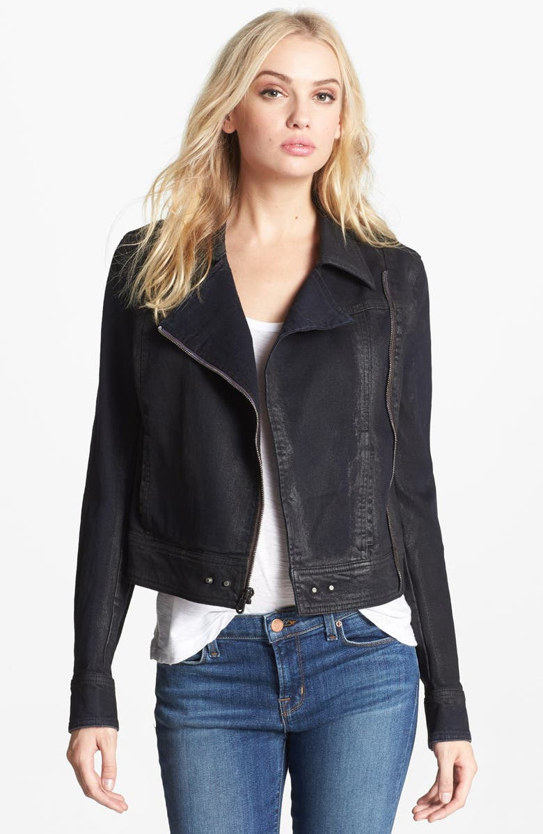 PAIGE Denim 'Brooklyn' Denim Moto Jacket, Main, color, 401