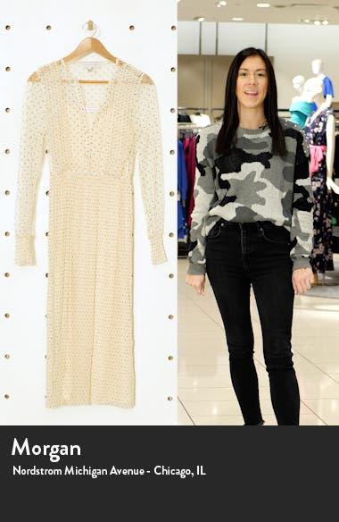Polka Dot Long Sleeve Ruffle Mesh Midi Dress, sales video thumbnail