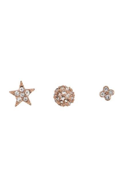 Image of AREA STARS Glitz Star Stud Earrings - Set of 3