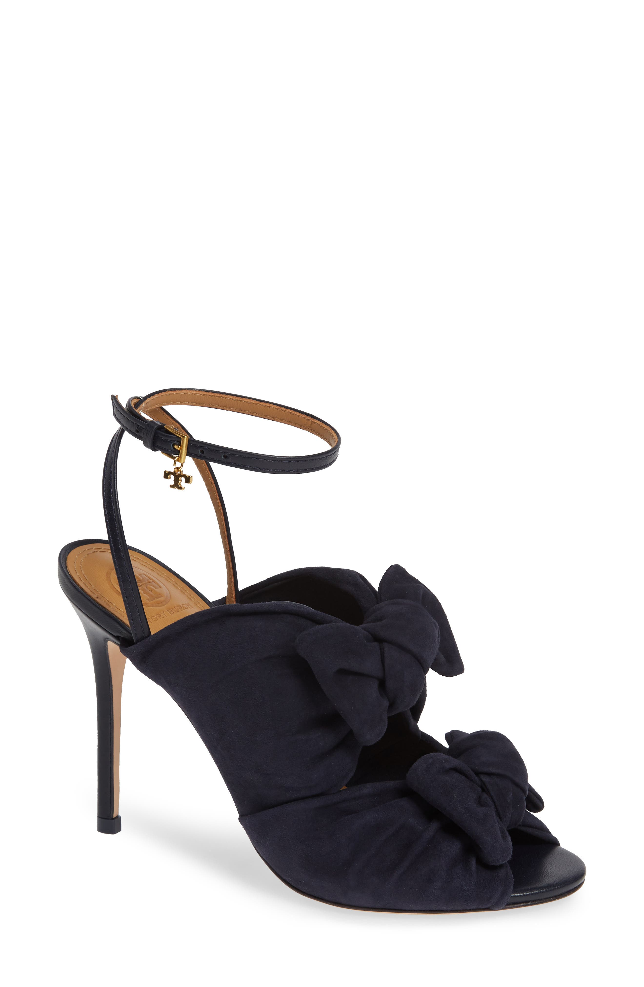 Tory Burch Eleanor Knotted Sandal- Blue