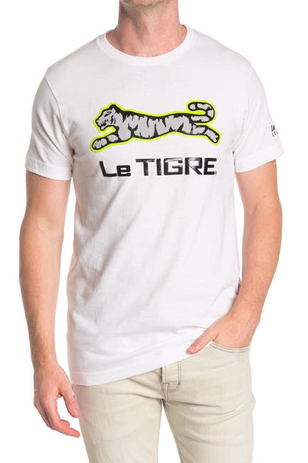 Image of Le Tigre Reflective Logo Graphic T-Shirt