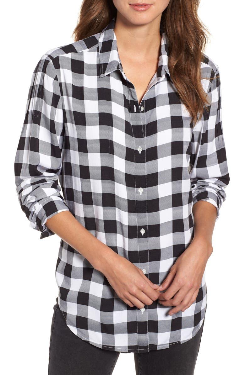 CASLON<SUP>®</SUP> Plaid Shirt, Main, color, 001