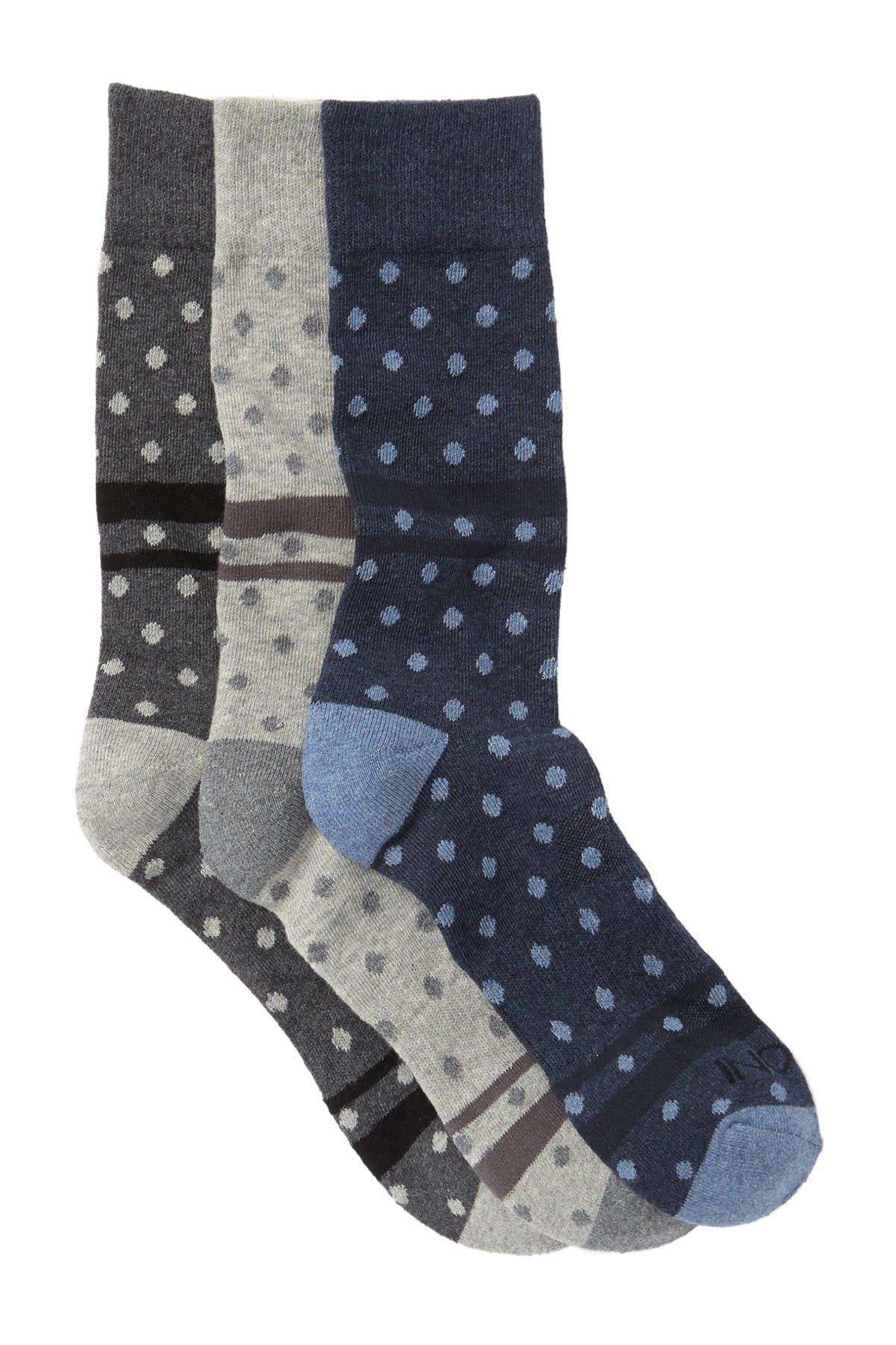 Image of BOCONI Mini Polka Dots Crew Socks - Pack of 3