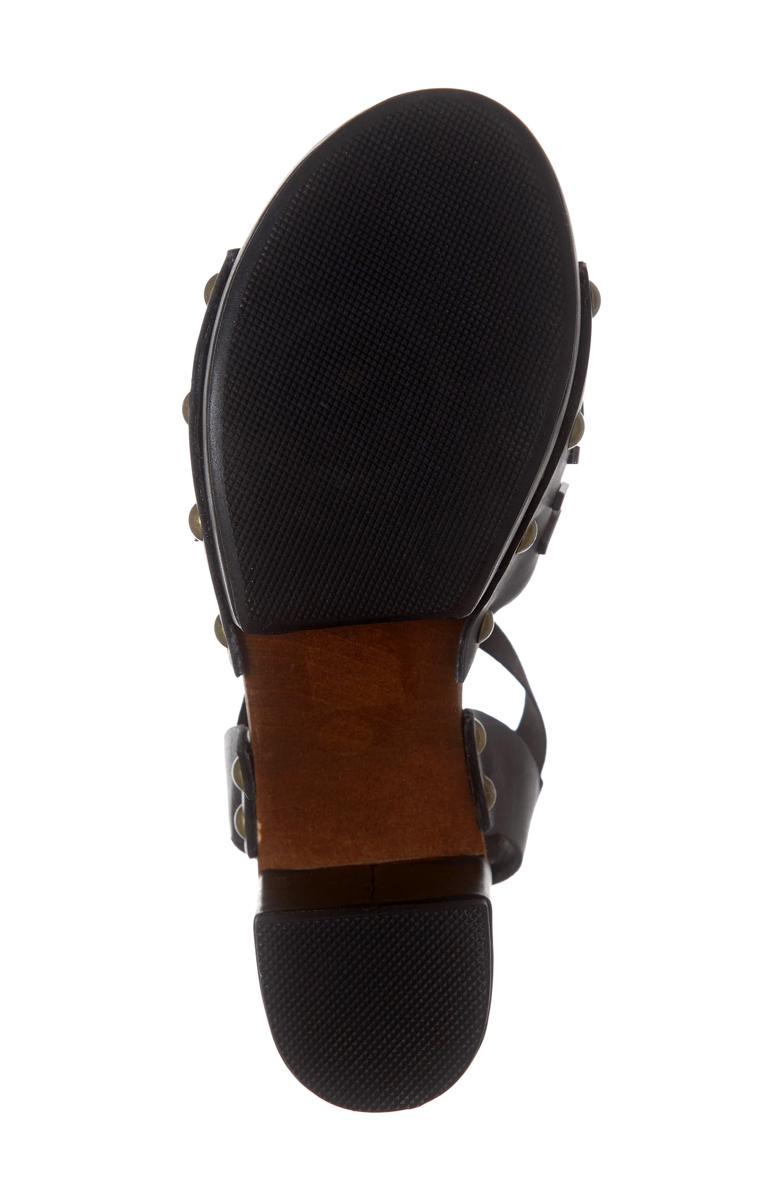 ,                             Frida Studded Platform Sandal,                             Alternate thumbnail 6, color,                             BLACK