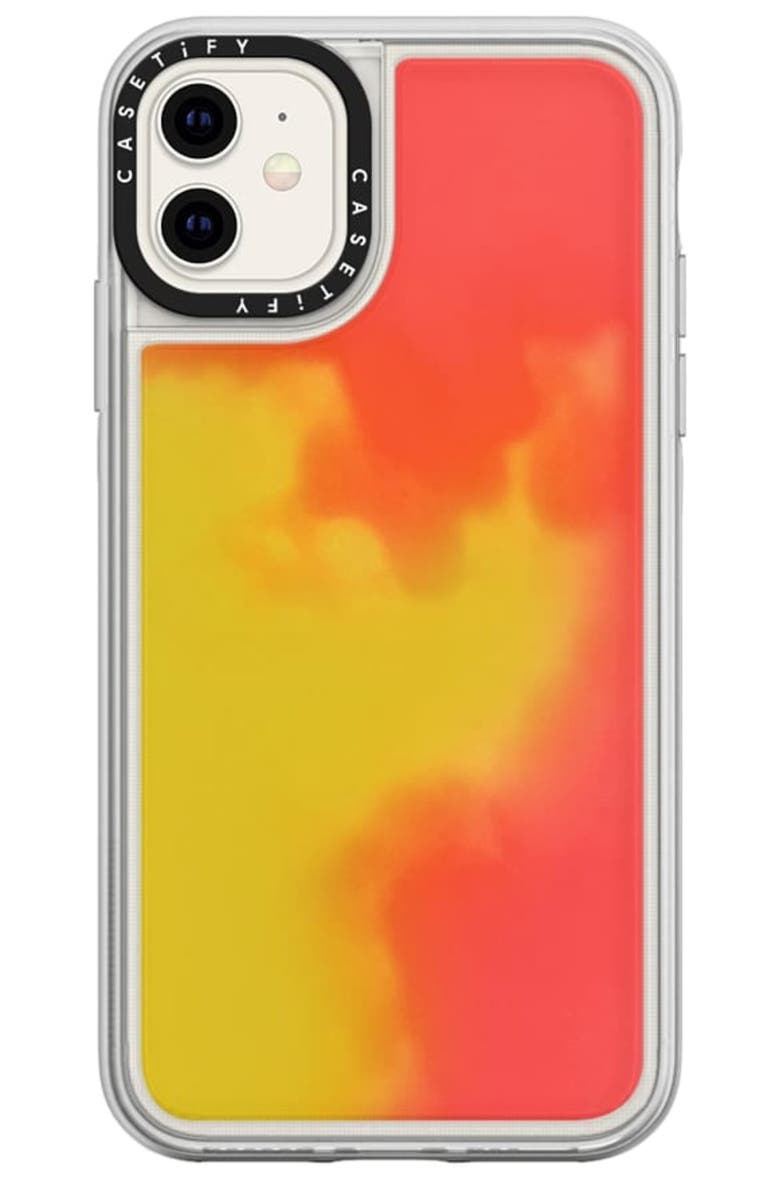 CASETIFY Neon Sand iPhone 11/11 Pro Max Case, Main, color, FLAME