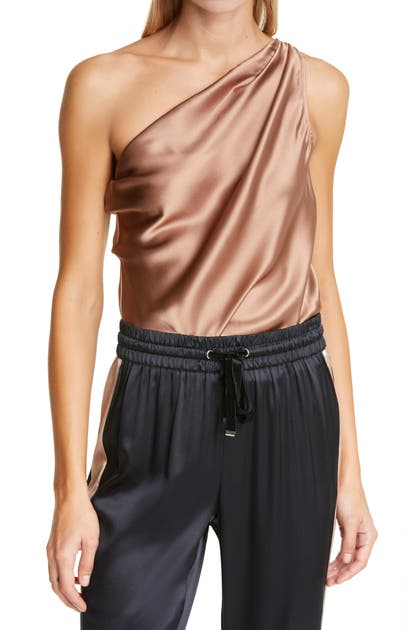 Cami Nyc THE DARBY ONE SHOULER SILK BODYSUIT