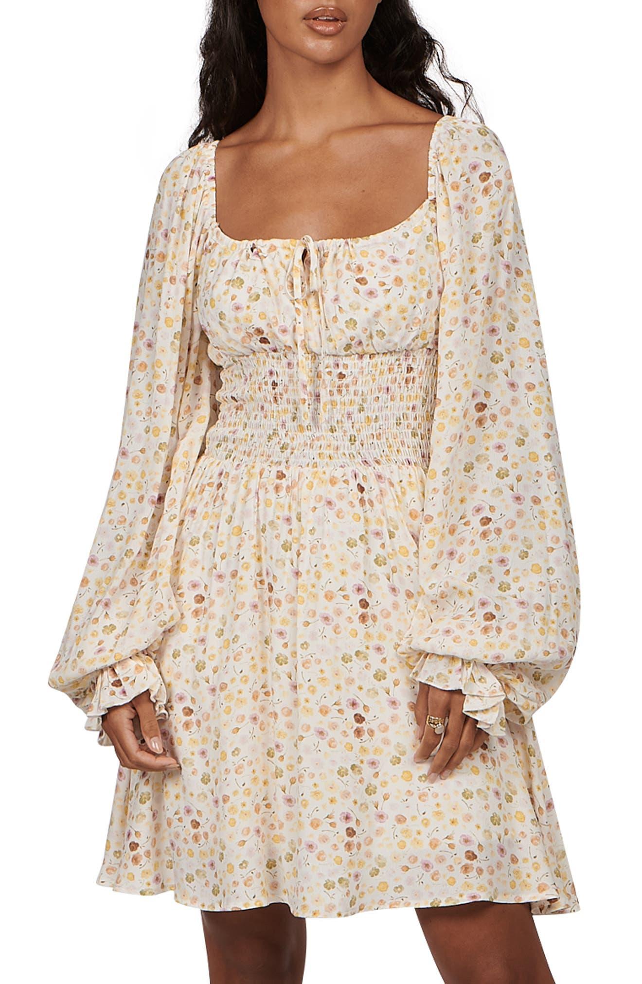 Bobby Floral Long Sleeve Minidress