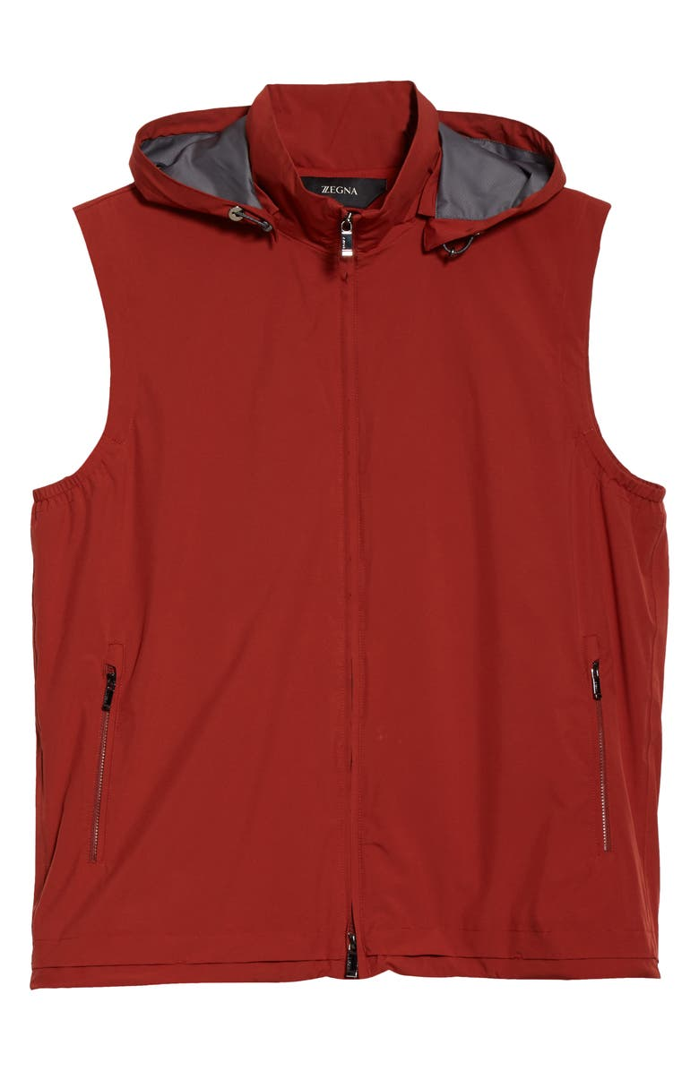 Z ZEGNA Feather Weight Hooded Vest, Main, color, 800