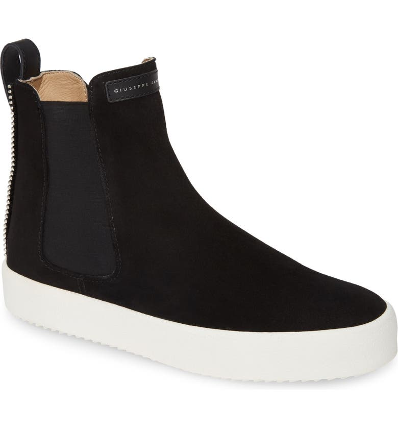 GIUSEPPE ZANOTTI Chelsea Sneaker, Main, color, BLACK/ WHITE