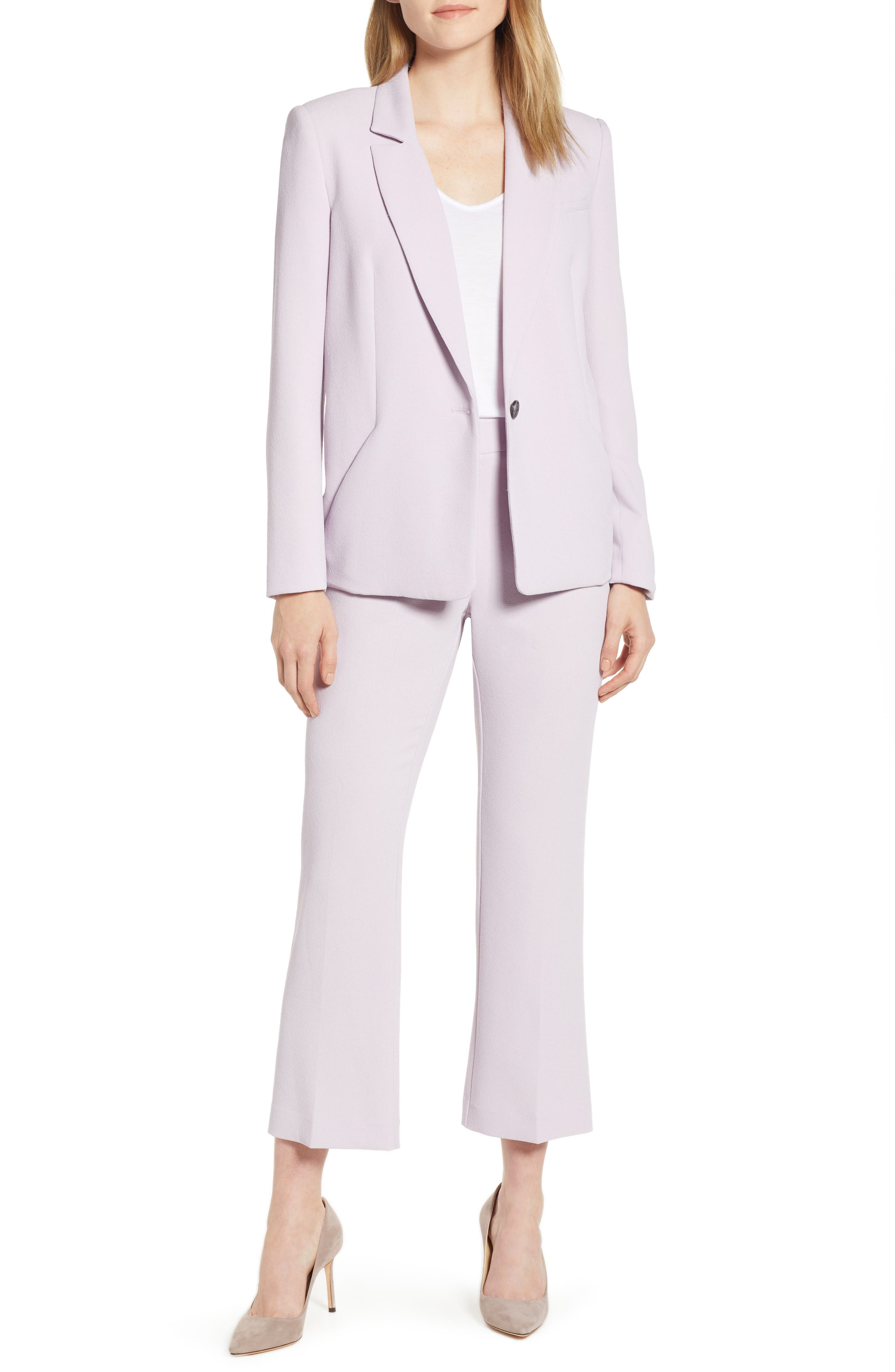 ,                             Crepe Kick Flare Ankle Pants,                             Alternate thumbnail 8, color,                             ORCHID BUD