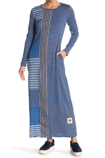 Billy Reid Indigo Patch Stripe Maxi Dress Nordstrom Rack