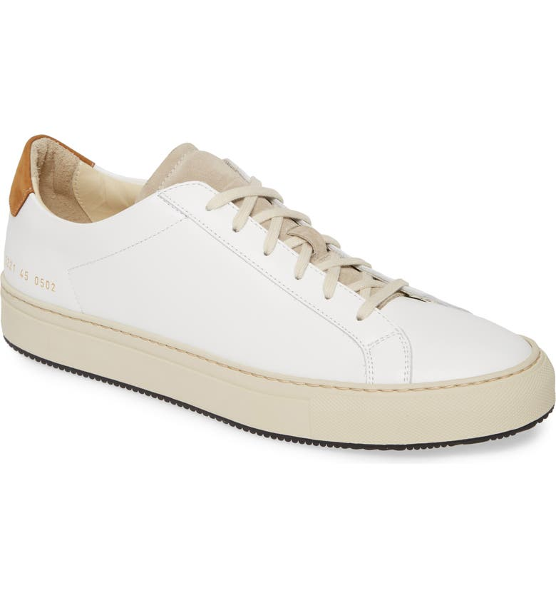 COMMON PROJECTS Retro Low Special Edition Sneaker, Main, color, WHITE/TAN
