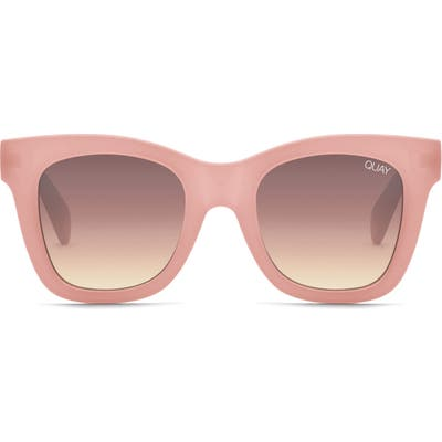 Quay Australia After Hours 50Mm Square Sunglasses - Pink/ Brown