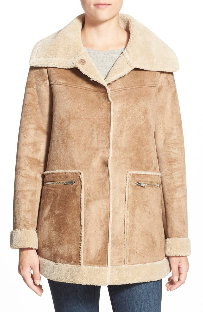 BERNARDO Faux Shearling Jacket, Main, color, 231