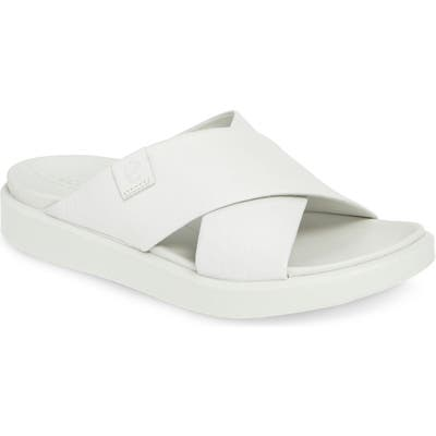 Ecco Flowt Lx Slide Sandal, White
