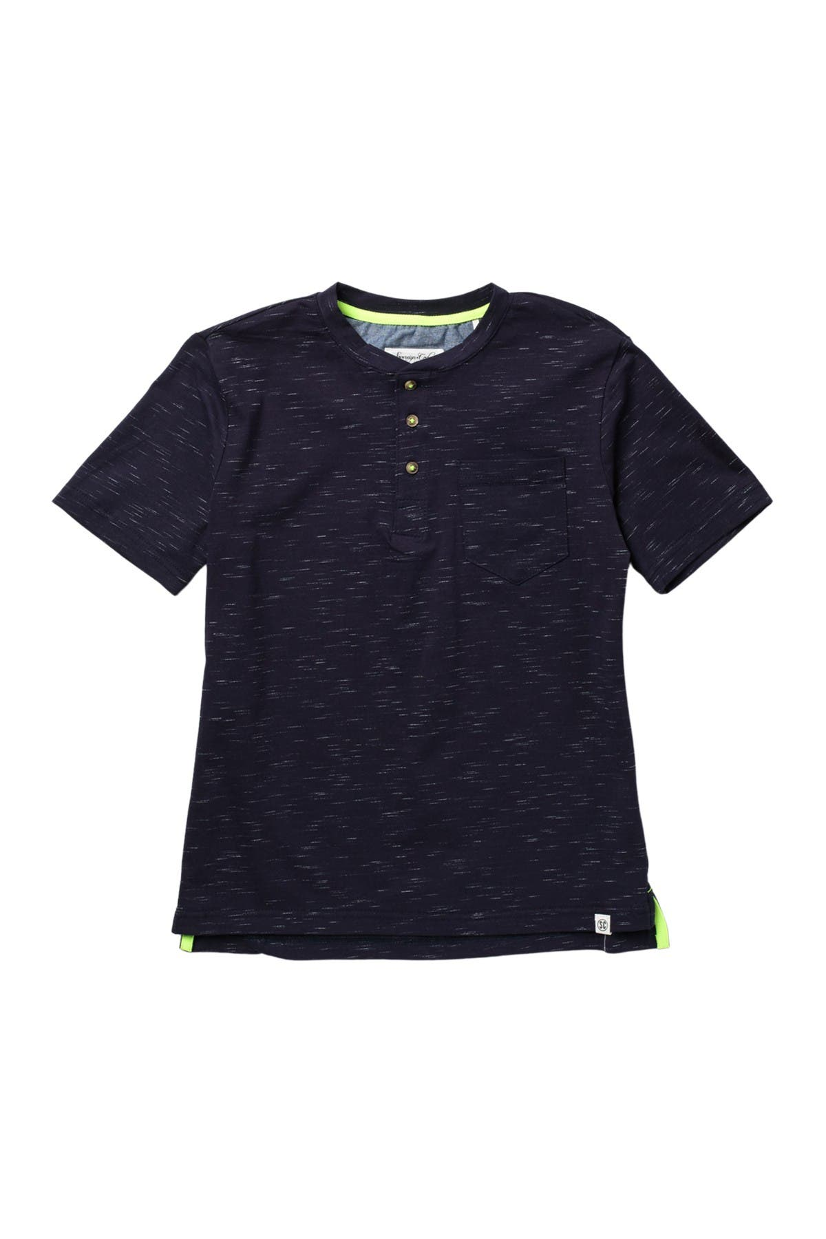 Image of Sovereign Code Unit Speckled Henley Tee