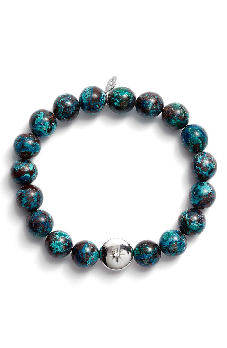 ANZIE Bohème Beaded Stretch Bracelet, Main, color, CHRYSOPHASE