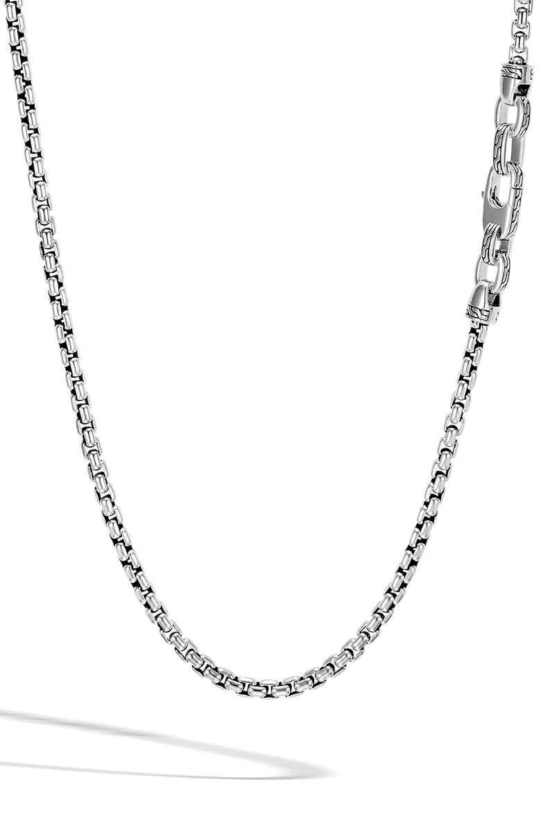 JOHN HARDY Men's Box Chain Sterling Silver Necklace, Main, color, 040