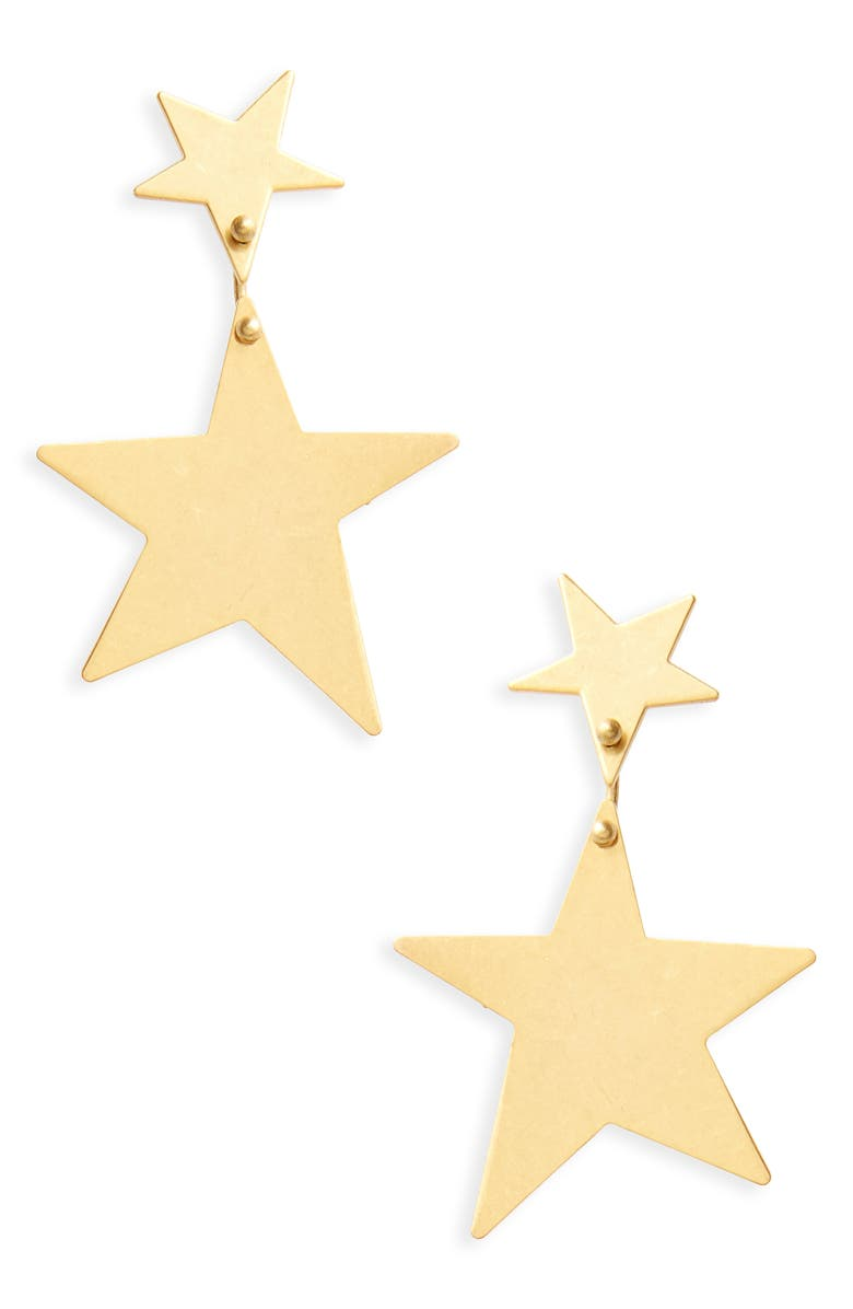MADEWELL Statement Star Drop Earrings, Main, color, 710