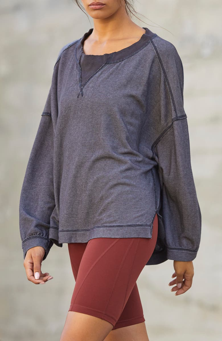 FREE PEOPLE FP MOVEMENT Free People Intimately FP Movement Rugby Match Pullover, Main, color, 001