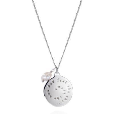 Claudia Bradby Nerissa Inscription Pendant & Pearl Necklace