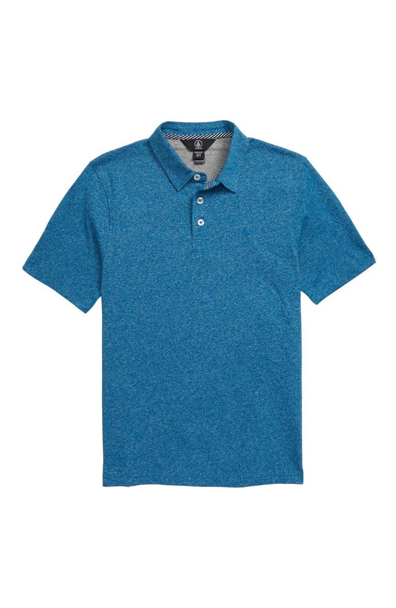 VOLCOM Wowzer Polo, Main, color, BIARRITZ BLUE