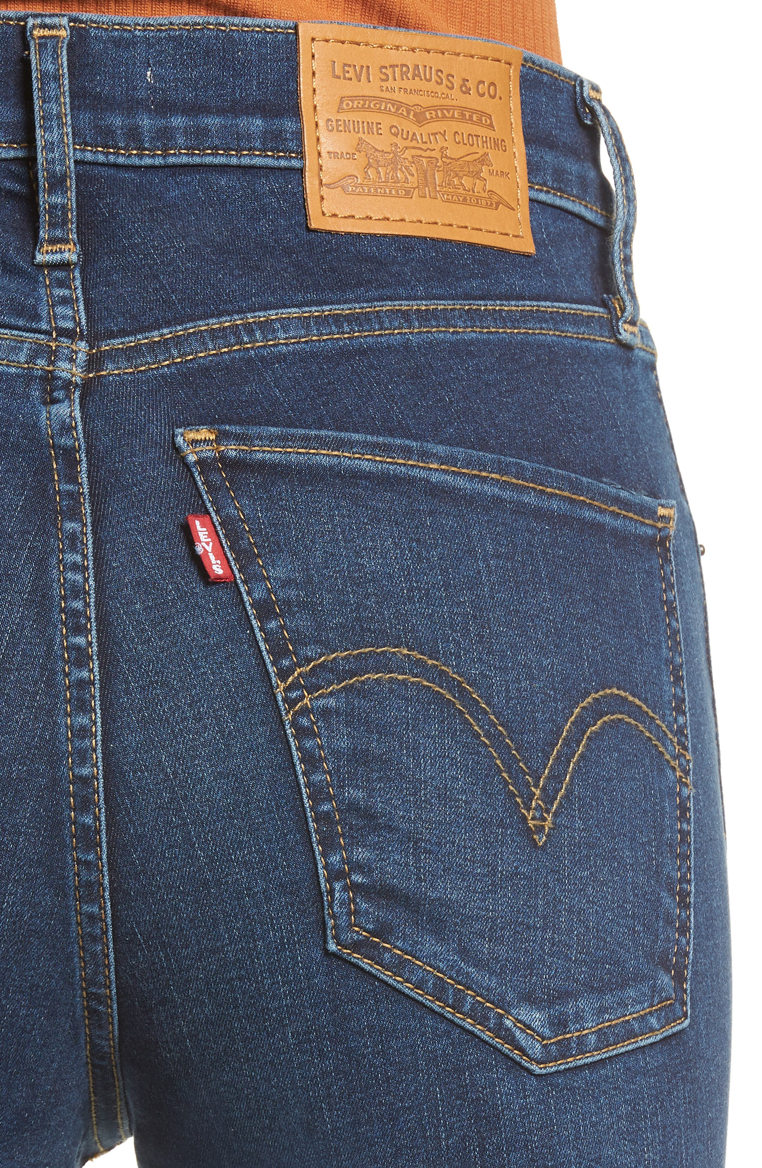 ,                             Mile High Super Skinny Jeans,                             Alternate thumbnail 5, color,                             420