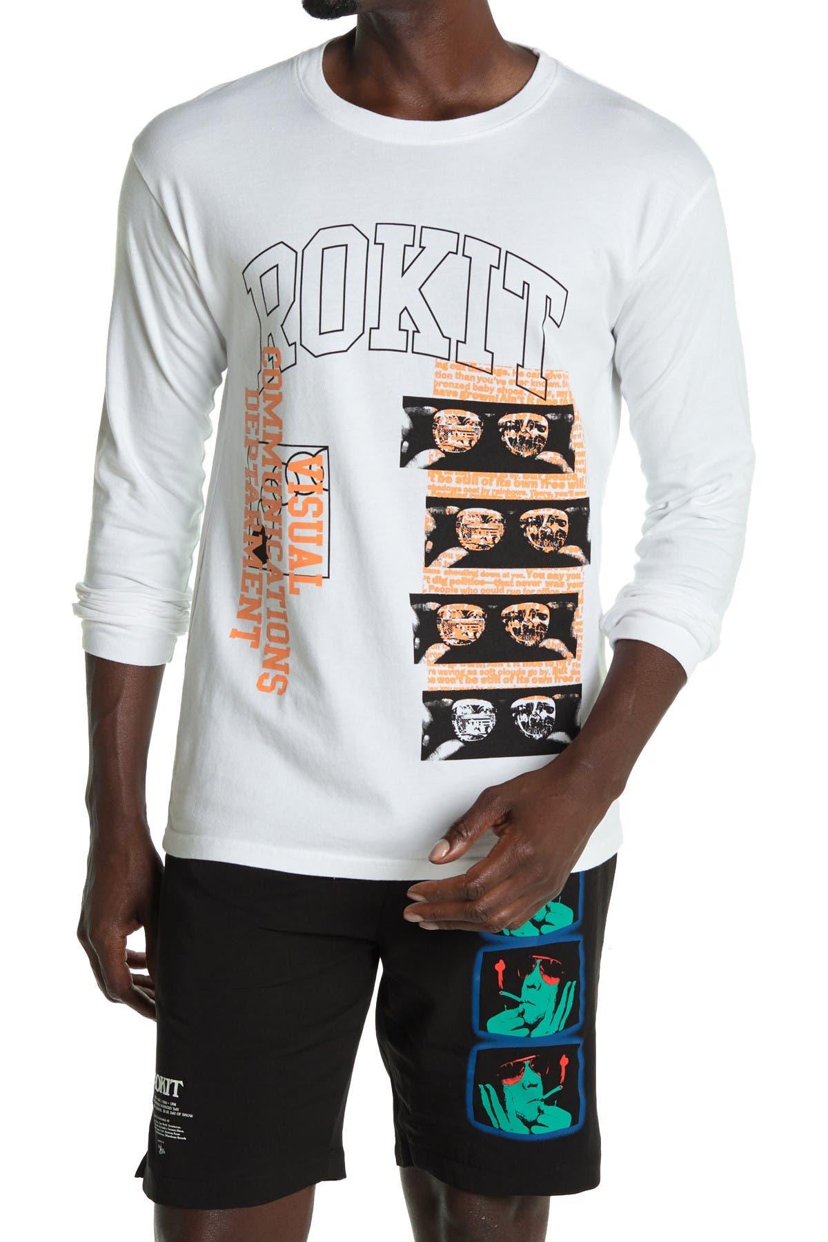 Image of ROKIT Free Will Logo Long Sleeve T-Shirt