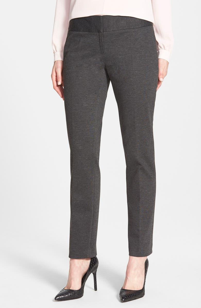 VINCE CAMUTO Ponte Ankle Pants, Main, color, DARK HEATHER GREY