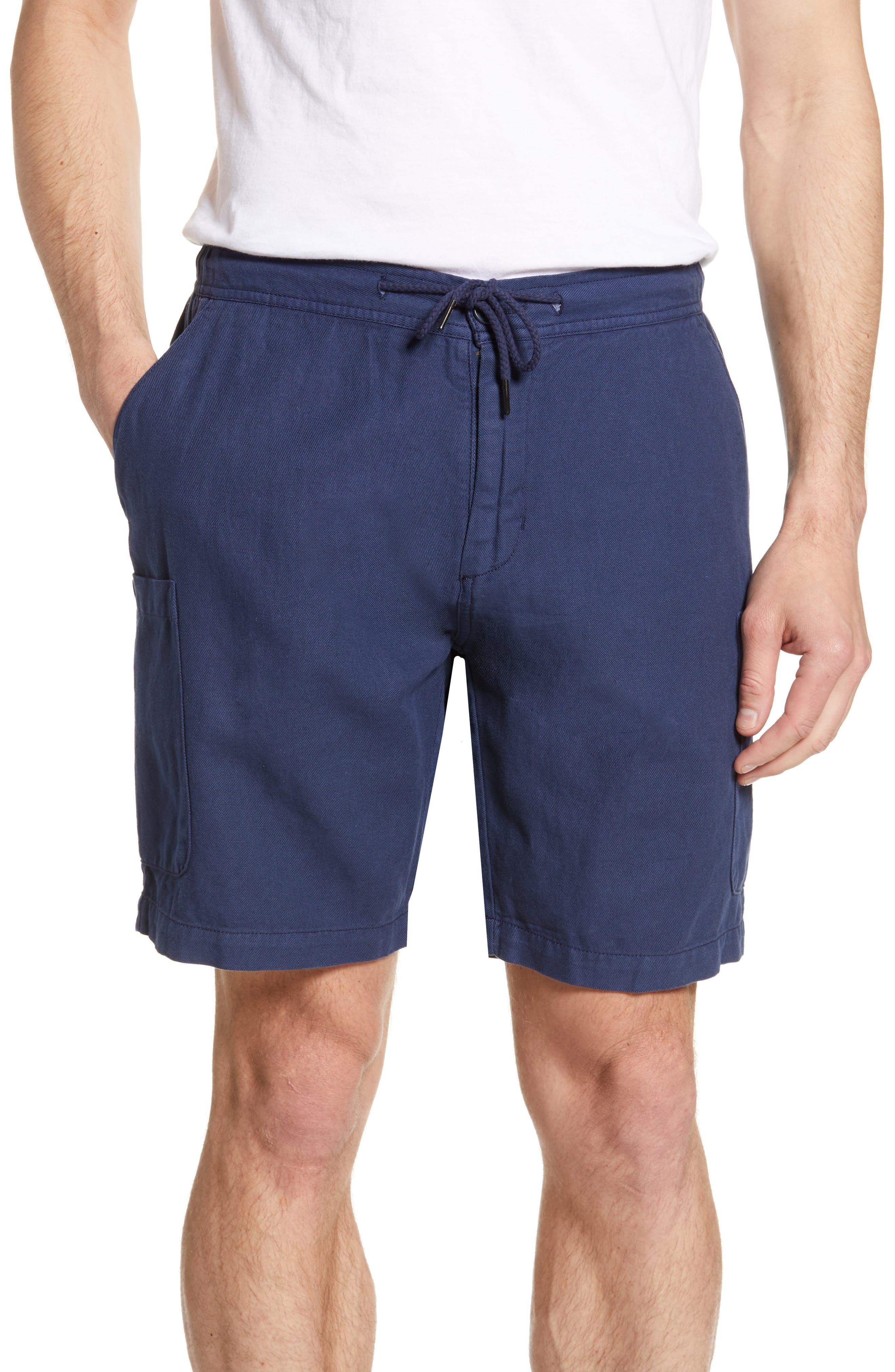 Reyn Spooner Linen Blend Cargo Shorts, Blue