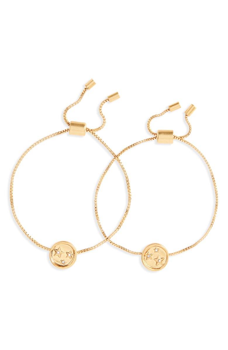 MADEWELL Star Sparkle Friendship Bracelet Set, Main, color, VINTAGE GOLD
