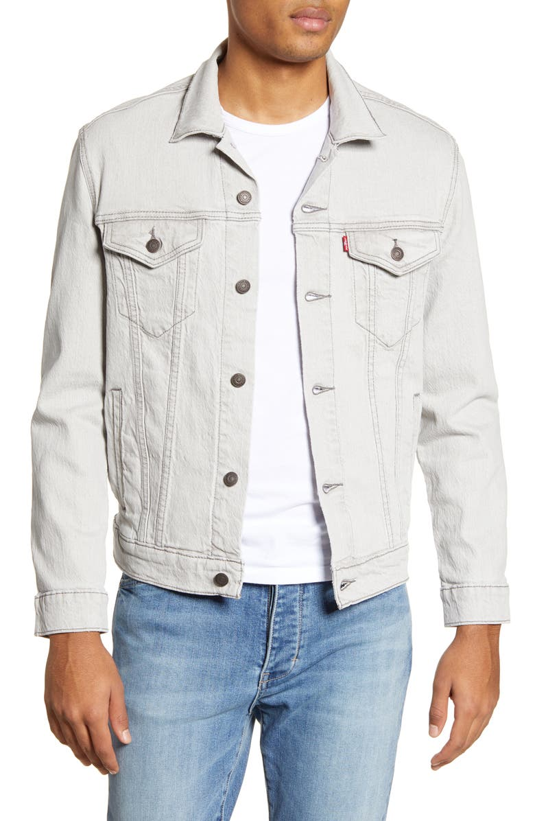LEVI'S<SUP>®</SUP> Denim Trucker Jacket, Main, color, PALE SHADE GREY TRUCKER