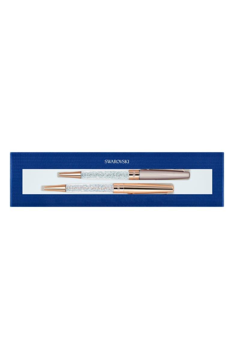 SWAROVSKI Set of 2 Stardust Ballpoint Pens, Main, color, ROSE GOLD