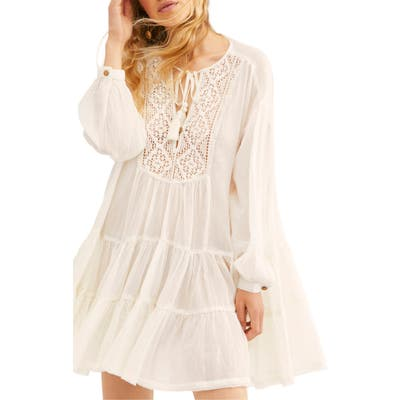 Endless Summer By Free People Something Special Long Sleeve Minidress, Ivory