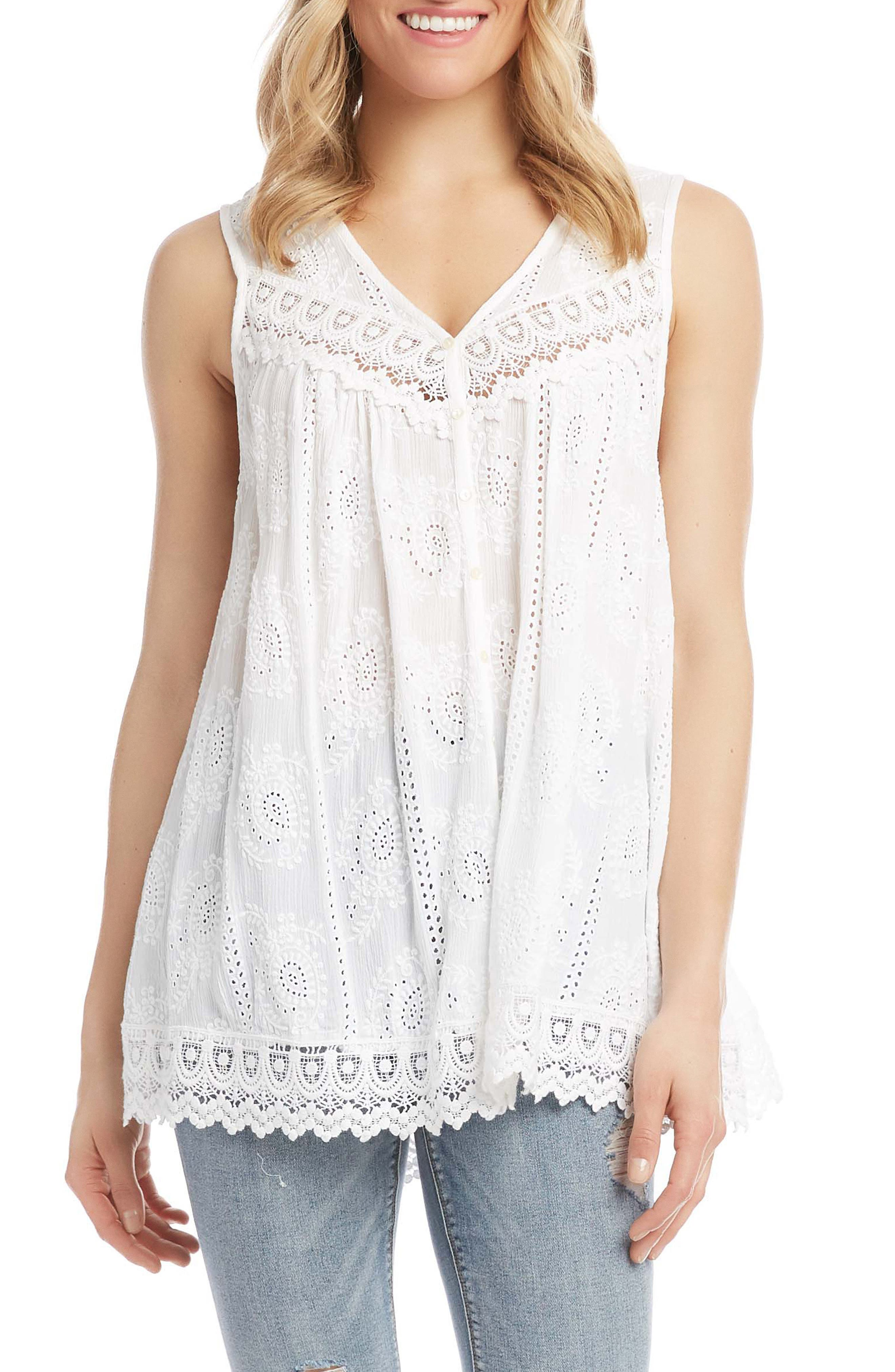 Eyelet & Lace Top
