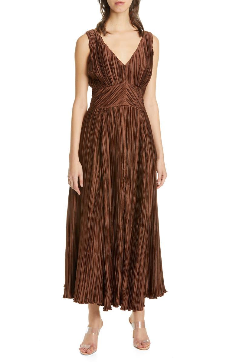 CULT GAIA Angela Buckle Back Maxi Dress, Main, color, SOL SOIL