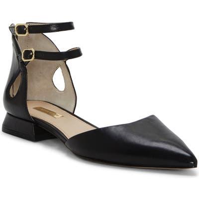 Louise Et Cie Carlen Ankle Strap Flat- Black