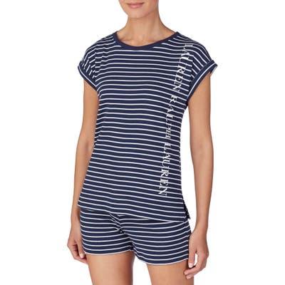 Lauren Ralph Lauren Knit Pajama Top, Blue