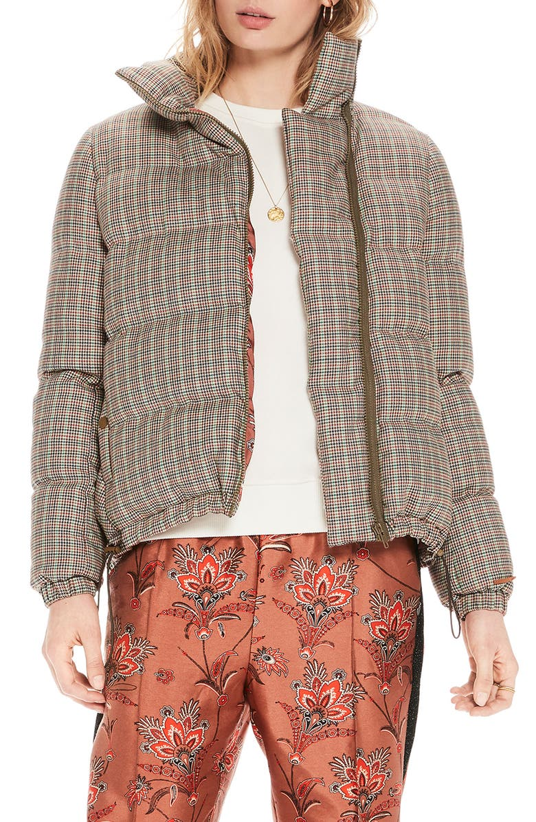 SCOTCH & SODA Quilted Check Jacket, Main, color, 250
