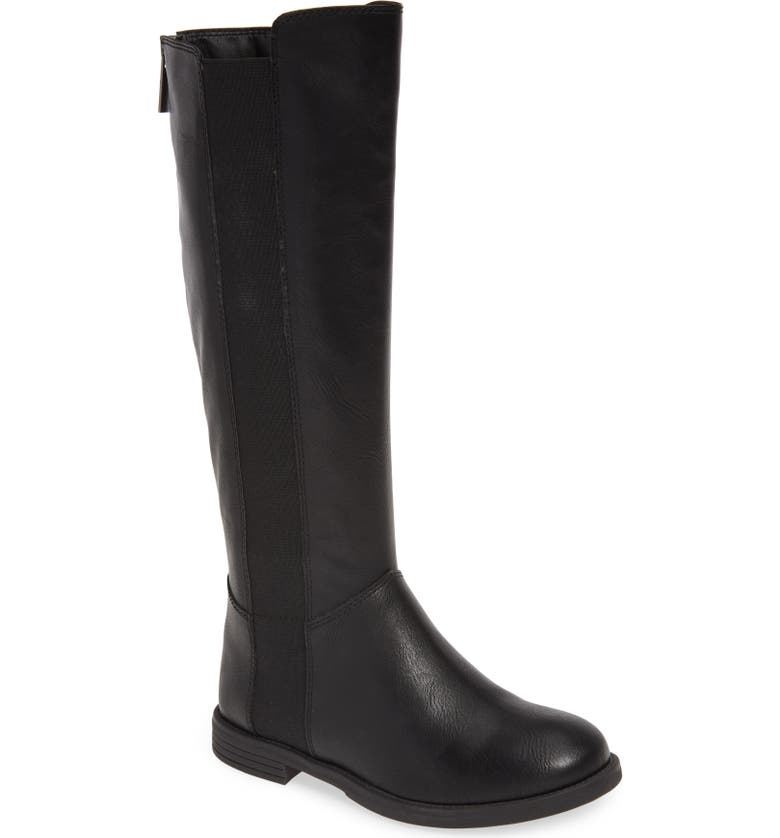 STEVE MADDEN Giselle Tall Boot, Main, color, BLACK