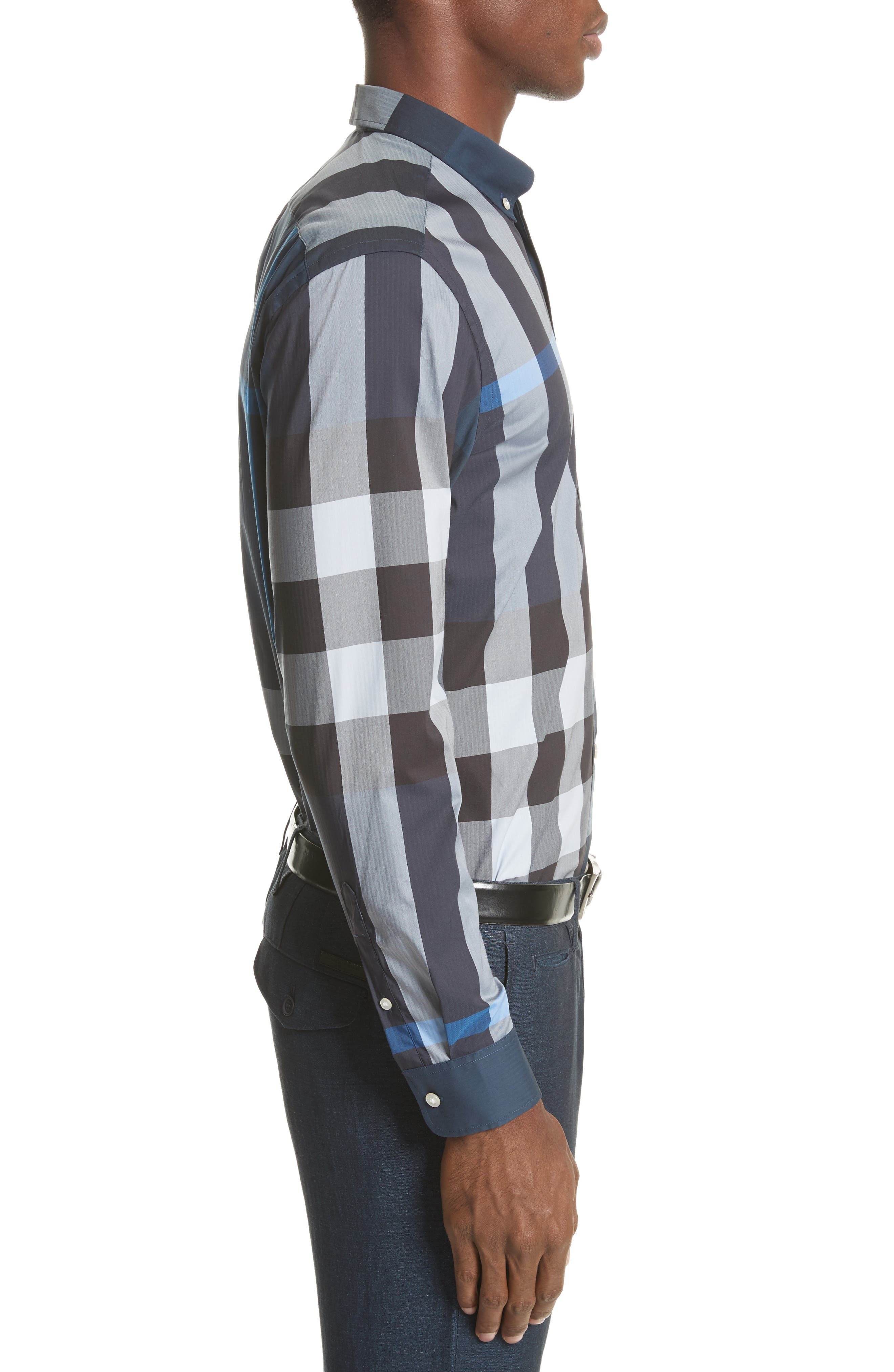 ,                             Thornaby Slim Fit Plaid Sport Shirt,                             Alternate thumbnail 21, color,                             406