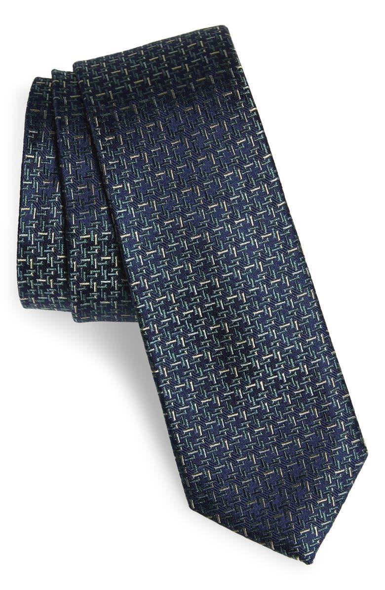 CALIBRATE Bannos Geometric Silk Tie, Main, color, 300