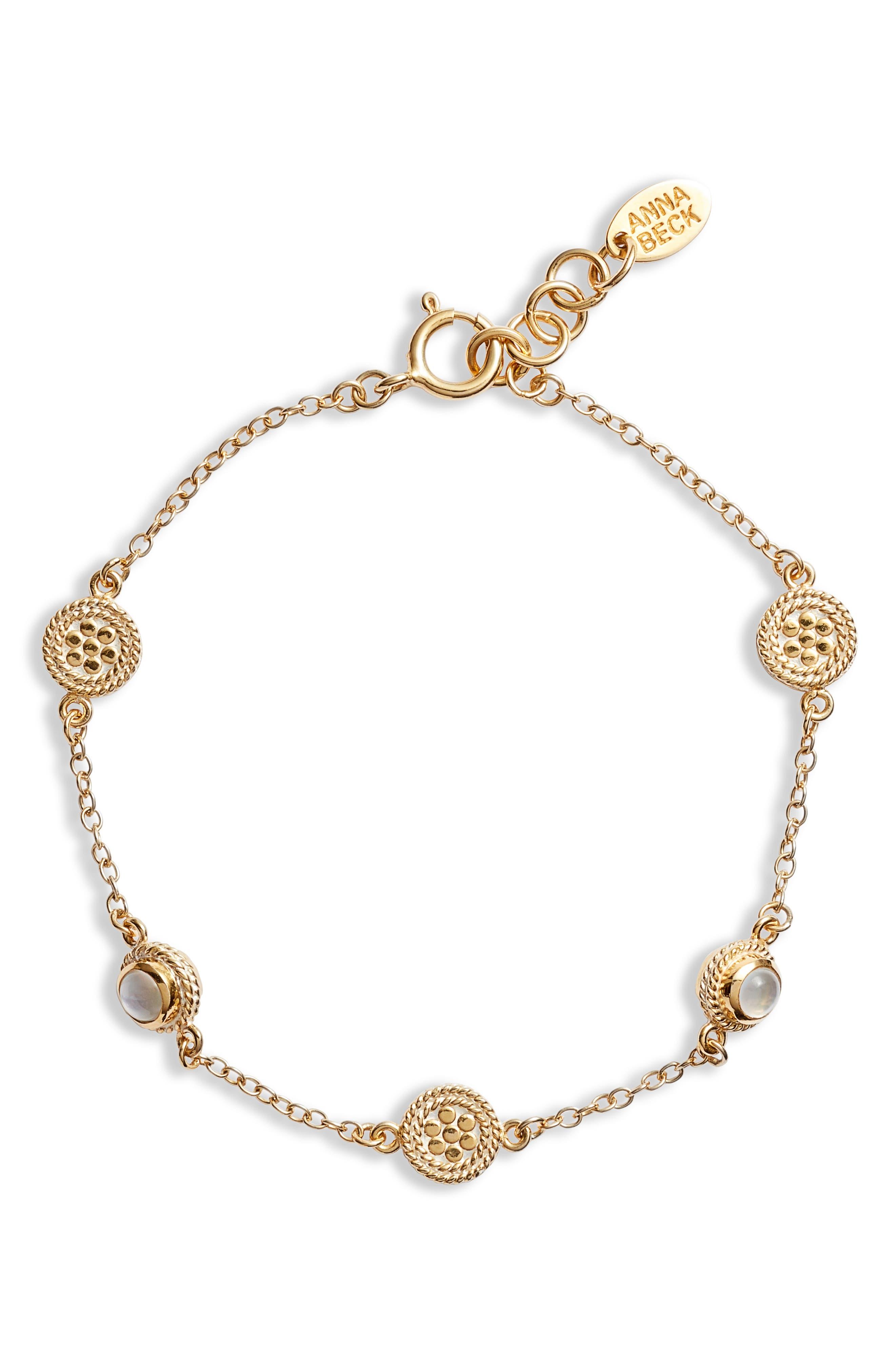 Mother-Of-Pearl Station Bracelet