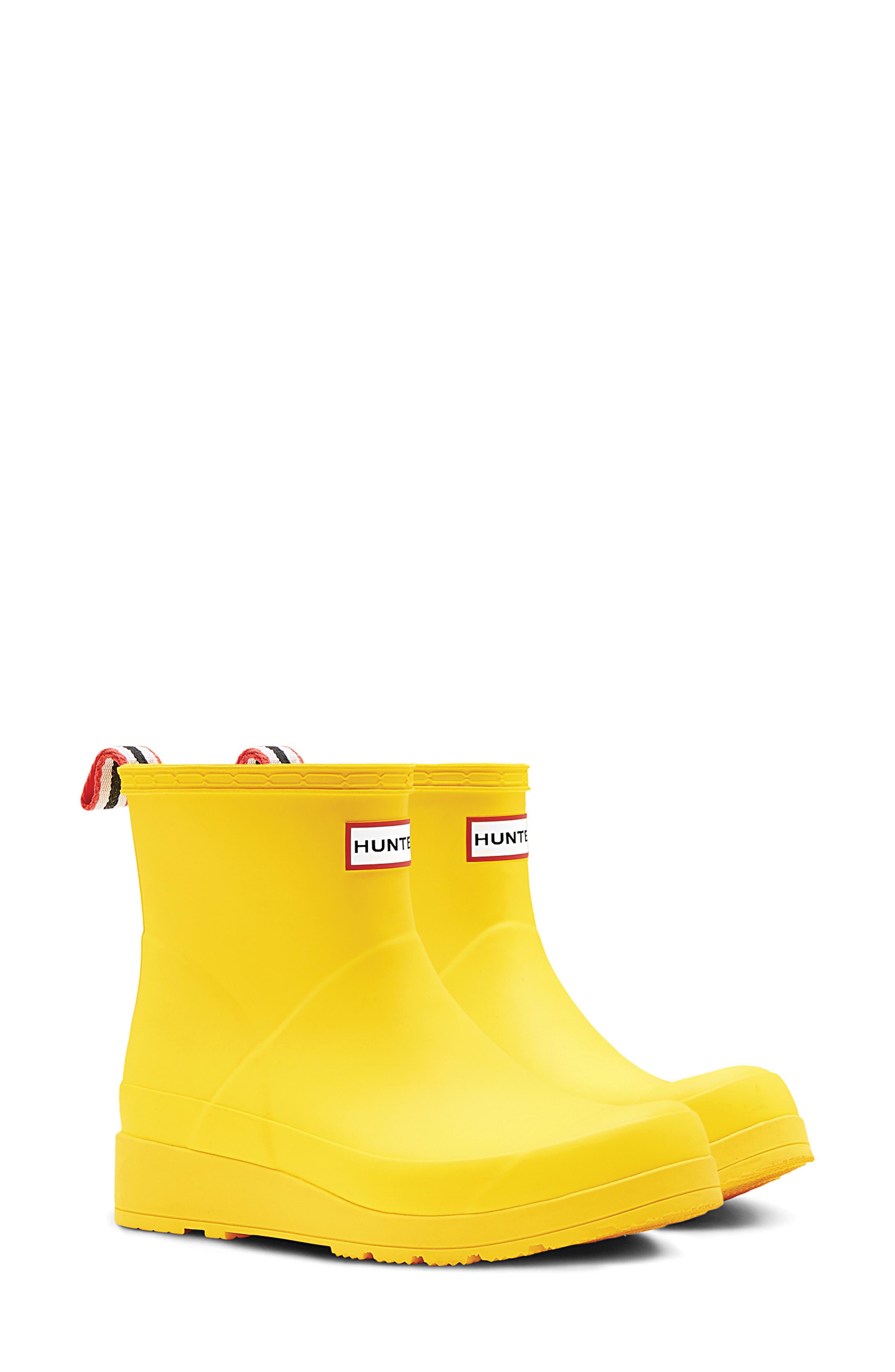 Hunter Original Play Waterproof Rain Bootie, Yellow