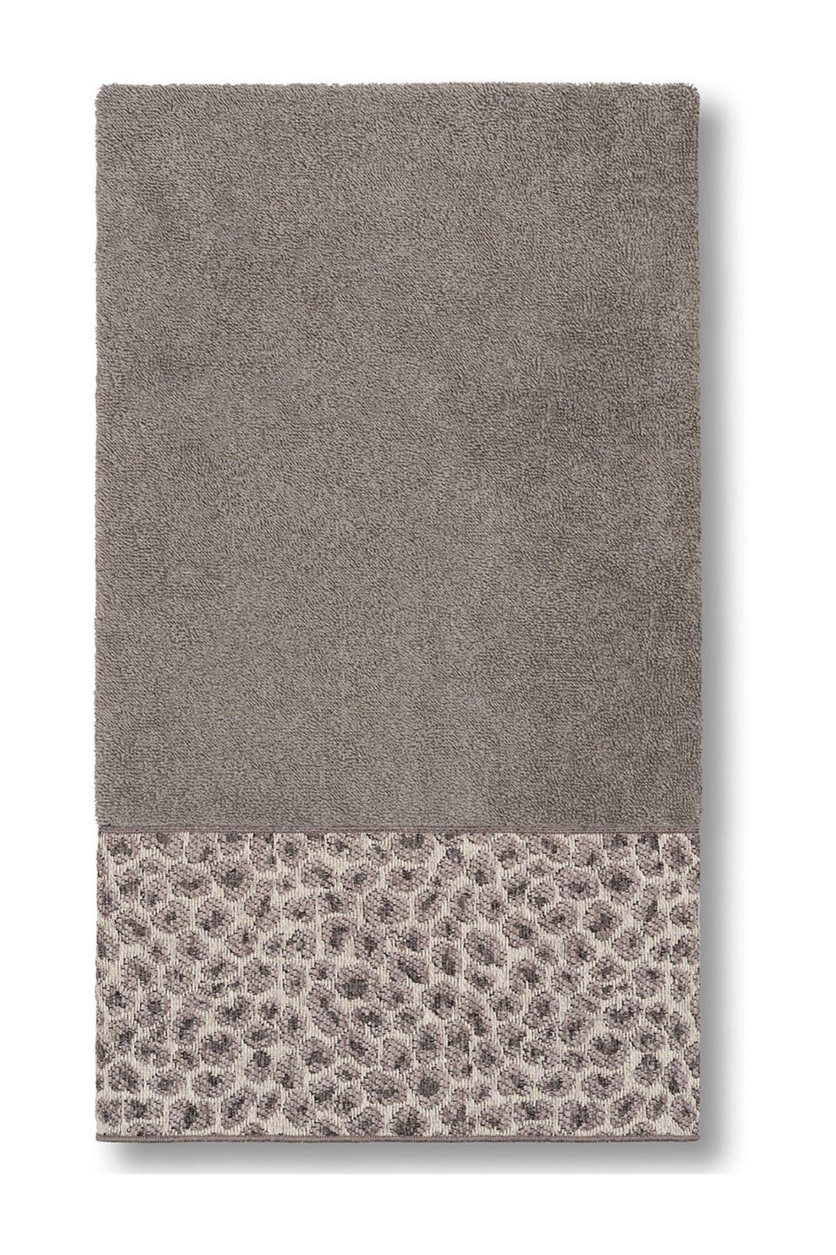 Image of LINUM HOME Spots Embellished Bath Towel - Dark Grey