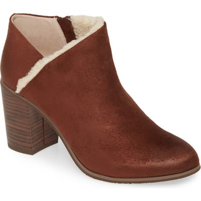 Bc Footwear Kettle Vegan Block Heel Bootie- Brown