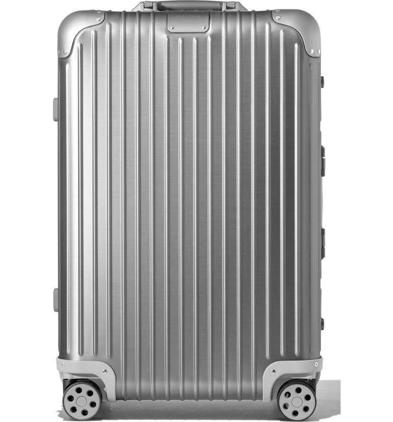 RIMOWA Original Check-In Medium 26-Inch Packing Case, Main, color, SILVER
