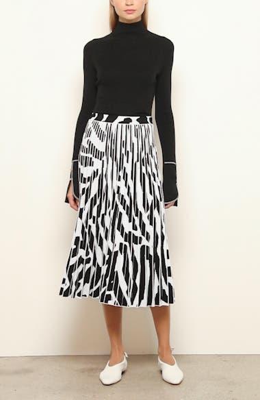 Animal Pattern Pleated Jacquard Midi Skirt, video thumbnail